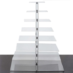 8 Tier Heavy Duty Acrylic Crystal Glass Cupcake Dessert Decorating Stand - Square