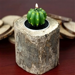Wooden Natural Stump Tea Light Holder Table Top Décor