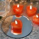 Heart Tealight Candles 12 Pack - Red