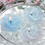 Floating Rose Candle 4 Pack - Blue