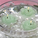 Floating Rose Candle 4 Pack - Green
