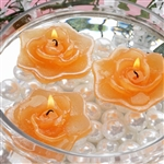 Floating Rose Candle 4 Pack - Tango