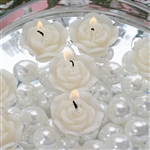 Mini Floating Rose Candle 12 Pack - Ivory