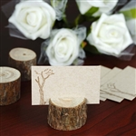 Vintage Natural Wooden Stump Placecard Holder - 4 Pack