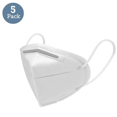 KN95 Face Mask With 5 Layer Filters & Adjustable Soft Ear Loops - Pack of 5