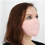 2 Ply Organic Cotton Washable Face Mask, Fabric Face Mask with Soft Ear Loops - Pack of 5 - Blush/Rose Gold