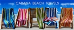 30x62 Terry Velour Cabana Stripe beach towels (assorted colors)