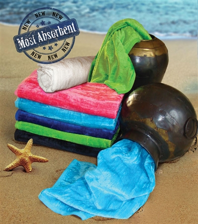 32x64 Silky Velour Beach Towels