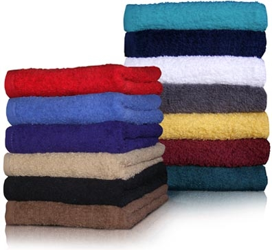 16x27 Economy Hand Towels by Royal Comfort (Assorted Colors)