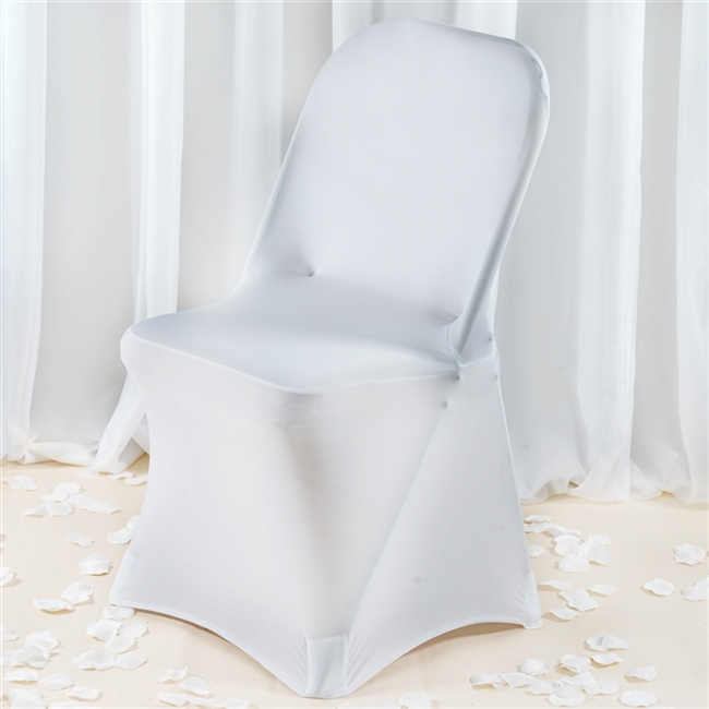 Surprising Premium Spandex Folding Chair Cover White Gmtry Best Dining Table And Chair Ideas Images Gmtryco