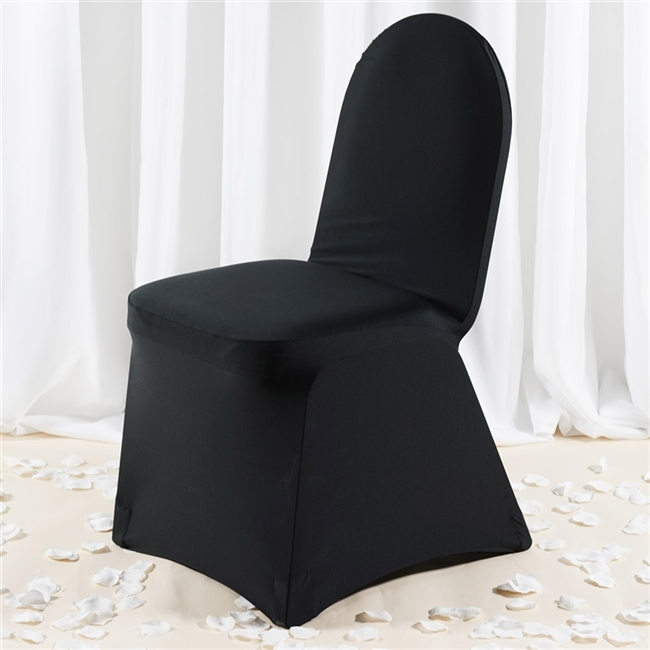 Excellent Premium Spandex Chair Cover Black Caraccident5 Cool Chair Designs And Ideas Caraccident5Info