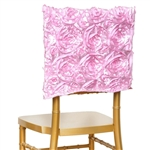 Grandiose Rosette Chair Caps (Square-Top) – Pink