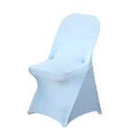 Chair Covers for Folding Chair / Spandex - Serenity Blue