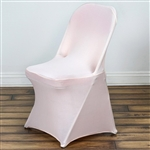 Chair Covers for Folding Chair / Spandex - Blush