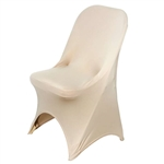 Spandex Champagne Chair Covers - Folding Chair Covers for Events | RazaTrade