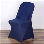 Chair Covers For Folding Chair / Spandex (Navy Blue) for Events | RazaTrade