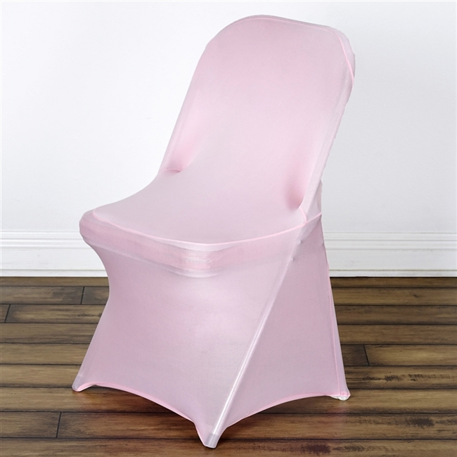 Delicieux Chair Covers For Folding Chair / Spandex   Pink