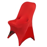 Wholesale Elegant Chair Covers For Folding Chair / Spandex (Red) | RazaTrade