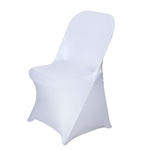 Chair Covers for Folding Chair / Spandex - White