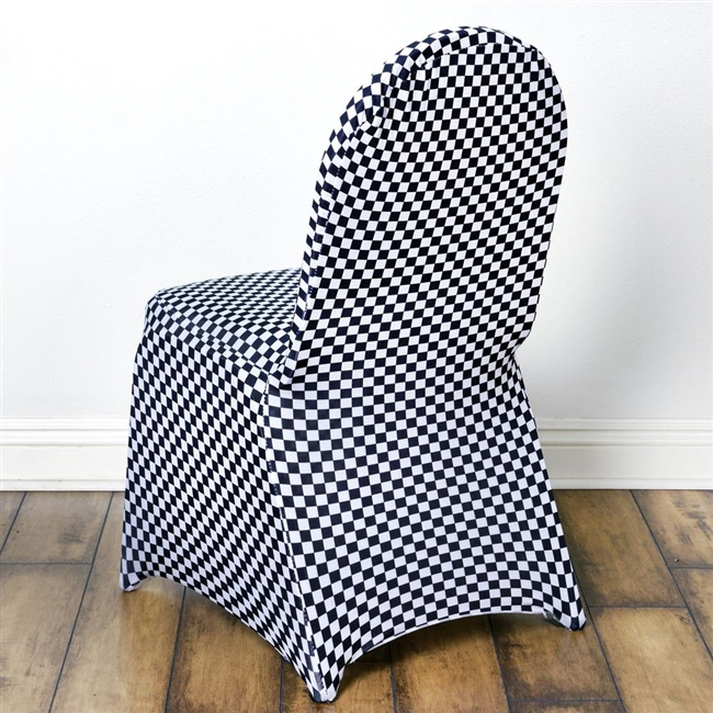 Buy Inexpensive Checkered Spandex Chair Covers Online