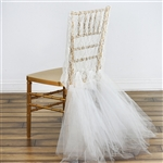 Ivory Bridal Wedding Party Lace And Tulle Tutu Chair Covers