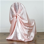 Universal Satin Chair Cover - Rose Gold/Blush
