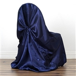 Universal Satin Chair Cover - Navy Blue