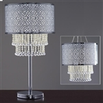 "EVVIVA 27"" Tall Wedding Diamond Pendant Crystal Lighting Chandelier Centerpiece with Chandelier Stand"