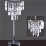 "Diva 12"" Tall Wedding Versatile Acrylic Diamond Chandelier Centerpiece with Chandelier Stand"