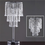 "Governess Acrylic 30"" Tall Glass Diamond Decorative Chandelier Centerpiece with Chandelier Stand"
