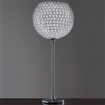 "UTOPIA  18"" Ball x 41"" Standing Acrylic Diamond Clear Chandelier / Lamp"