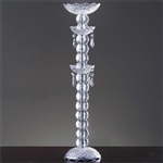 "24"" Tall Pillar Wedding Centerpiece Crystal Chandelier"