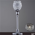 "16"" Tall Crystal Beaded Candle Holder Goblet Votive Tealight"