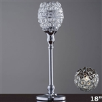 "18"" Tall Crystal Beaded Candle Holder Goblet Votive Tealight"