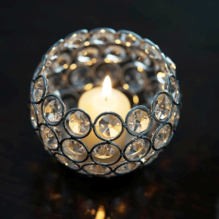 "4"" x 3.5"" Adorable Votive Tealight Crystal Candle Holder"