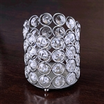 "3.25"" Dia x 3.5"" Tall Exquisite Votive Tealight Crystal Candle Holder"