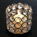 "3.25"" Dia x 2.75 Tall Bejeweled Blitz Votive Tealight Crystal Candle Holder"