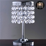"7.5"" Elegant Metal Votive Tealight Crystal Candle Holder"