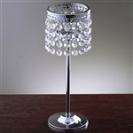 "11.5"" Stunning Metal Votive Tealight Crystal Candle Holder"