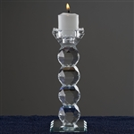 "7"" Gemcut Egyptian Handcrafted Crystal Glass Votive Candle Holder Table Top Wedding Centerpiece"