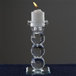 "6"" Gemcut Egyptian Handcrafted Crystal Glass Votive Candle Holder Table Top Wedding Centerpiece"