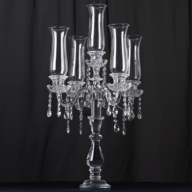 buy 32 5 arm crystal glass taper candle holder online