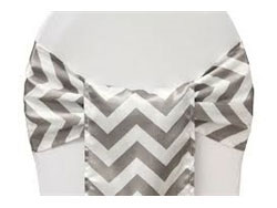 "Rental Chevron 7""x108"" Chair Sash"
