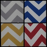 Premium Chevron fabric by the yard 60""