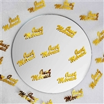 Metallic Foil Wedding-Party Just Married Confetti - 300 PCS- Gold