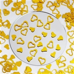 Metallic Foil Wedding-Party Heart Confetti - 300 PCS- Gold