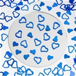 Metallic Foil Wedding-Party Heart Confetti - 300 PCS- Royal Blue