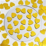 Dreamy Metallic Foil Wedding-Party Heart Confetti Sprinkles- 300 PCS-Gold