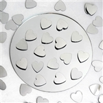 Dreamy Metallic Foil Wedding-Party Heart Confetti Sprinkles- 300 PCS-Silver