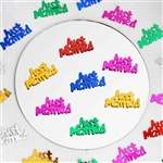 Metallic Foil Just Married Wedding Confetti-300PCS-Assorted